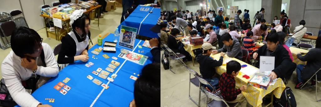 試遊卓スペースが用意されているのがゲームマーケットの大きな特徴。これまではボードゲームばかりだったが、公式のTRPGも遊べることに