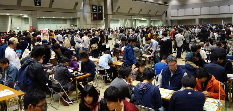 毎年多くのアナログゲームファンで会場が埋まる「ゲームマーケット」(写真は2014秋・東京会場)